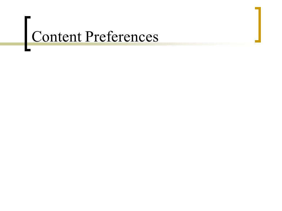 Content Preferences