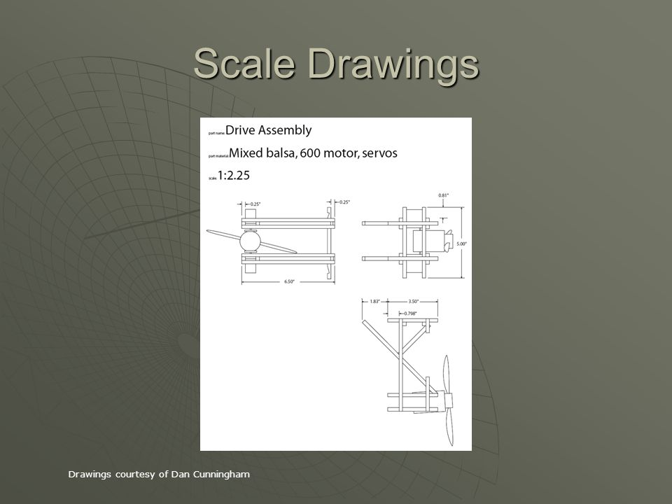 Scale Drawings Drawings courtesy of Dan Cunningham