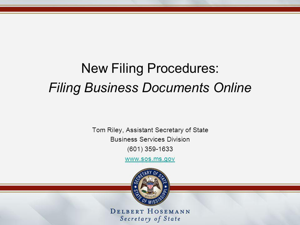 If there are errors on the filing, the system will flag the errors for correction.