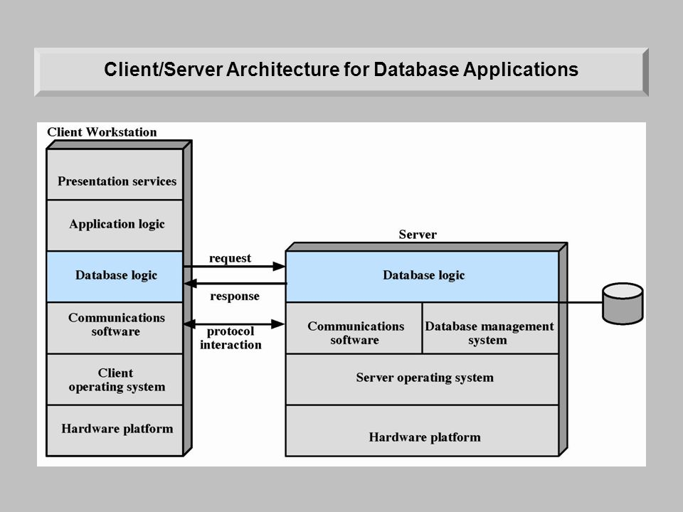 Client/Server Architecture for Database Applications