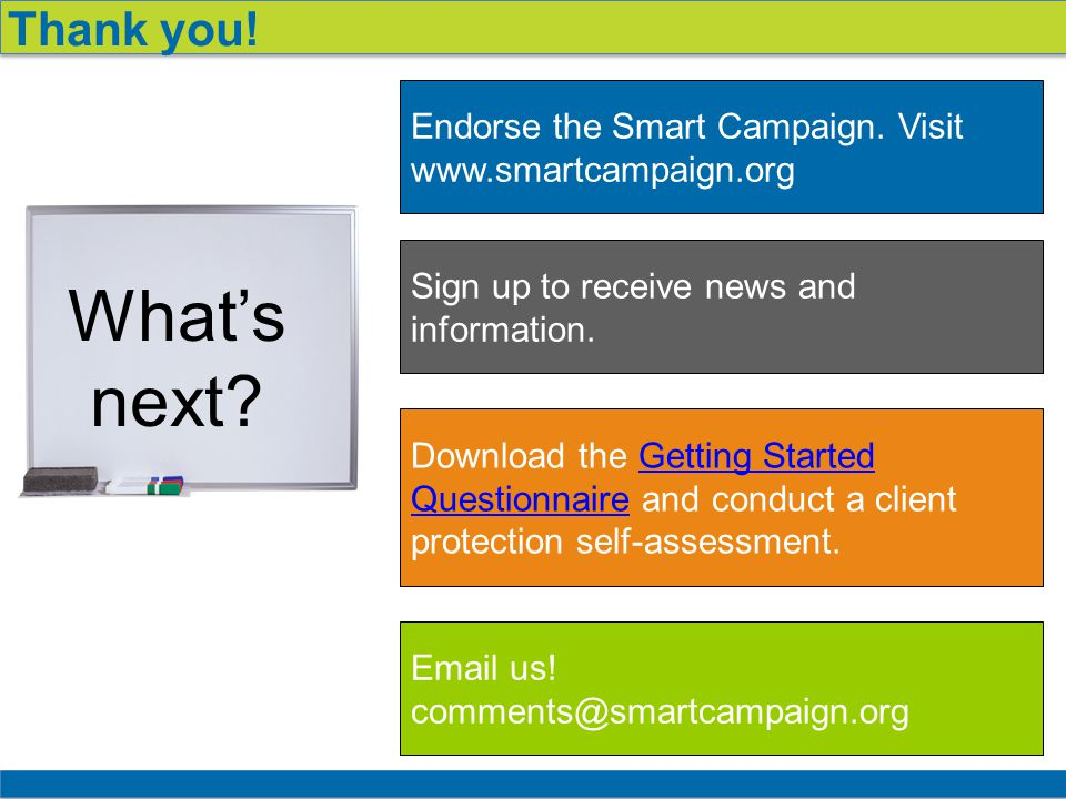 18 Thank you. Endorse the Smart Campaign.