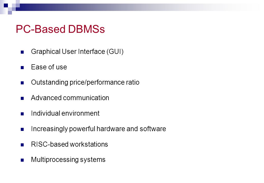 Components of Client/Server Architecture Client  Front-end application Server  Back-end application Communications middleware  Communications layer