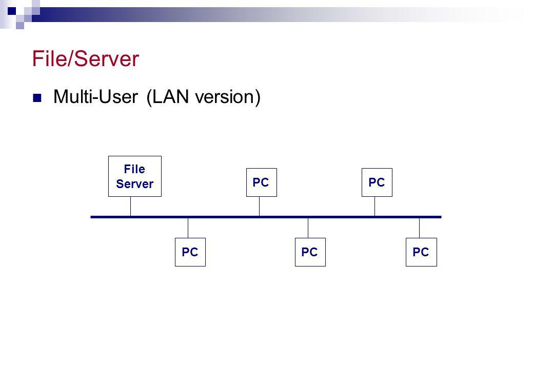 Client-Server Database Systems Comm.Soft. Server DBMS Shared Database Server Comm.