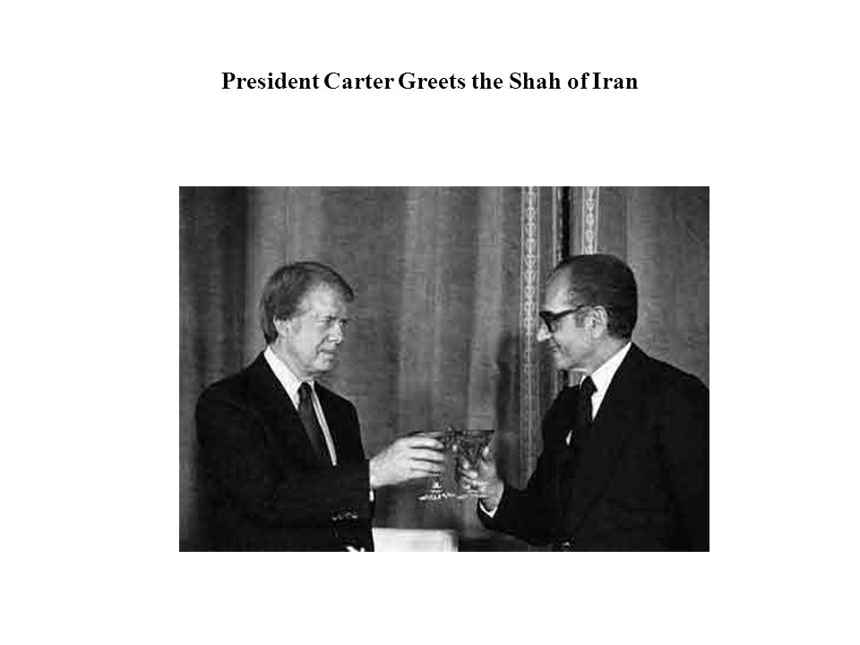 President Carter Greets the Shah of Iran
