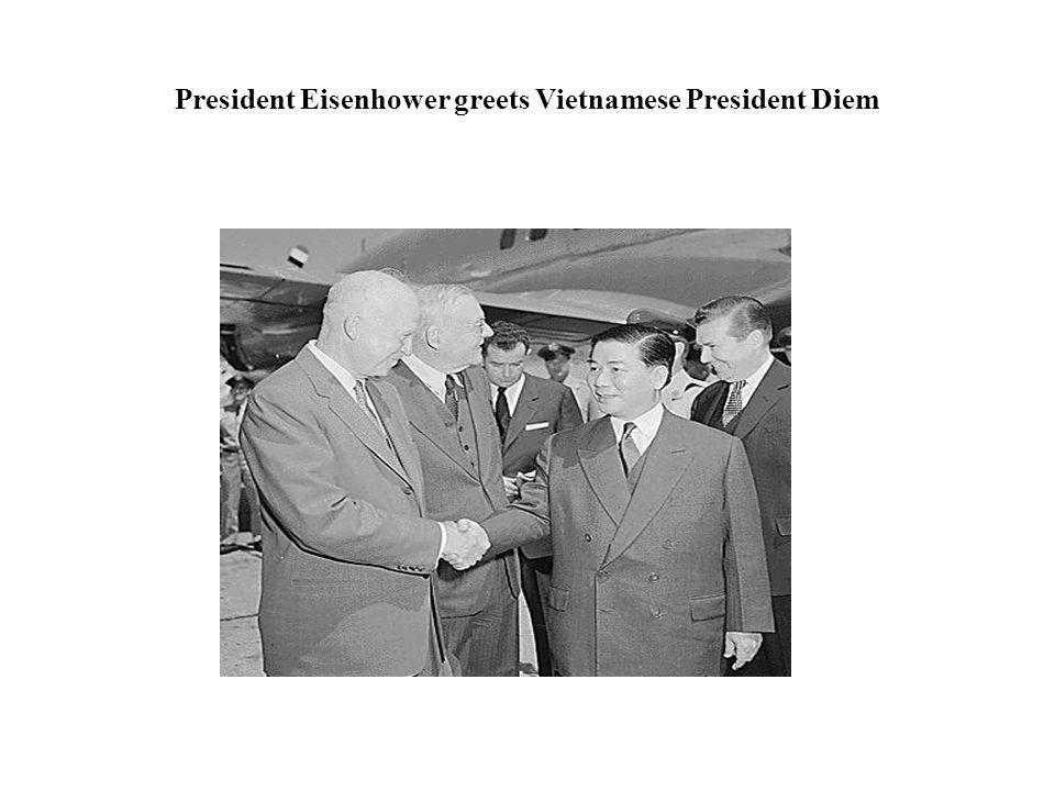 President Eisenhower greets Vietnamese President Diem