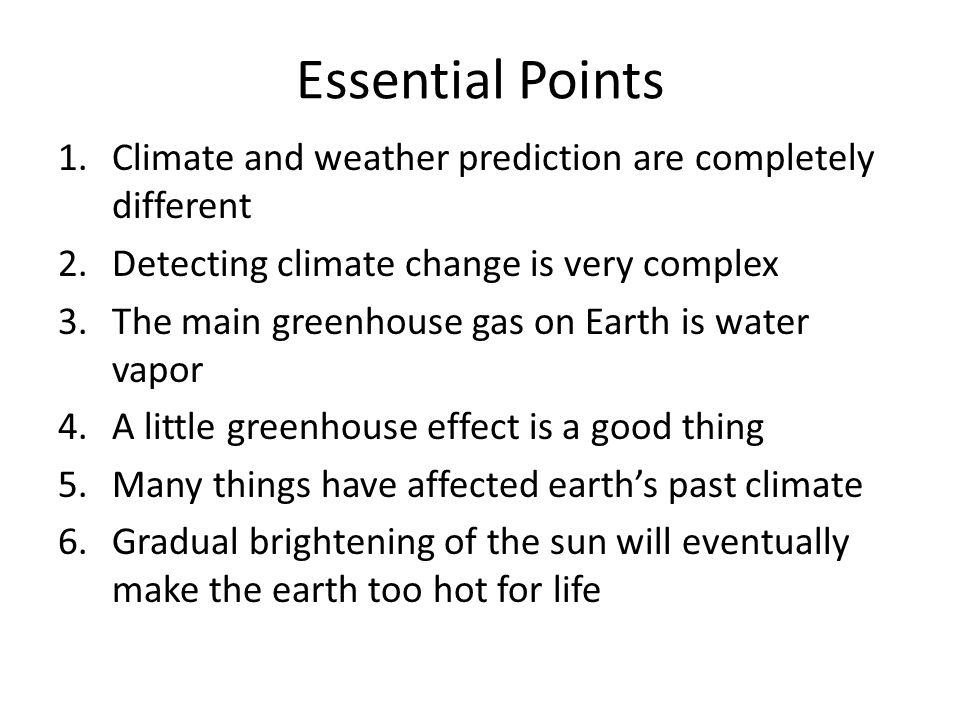 Climate Versus Weather