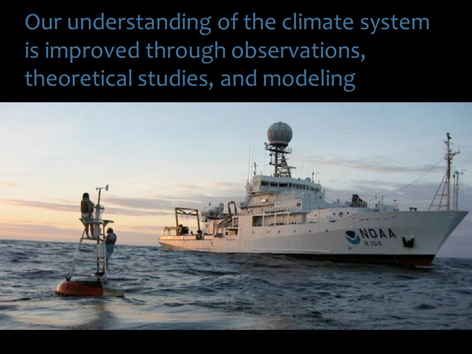 Our understanding of the climate system is improved through observations, theoretical studies, and modeling