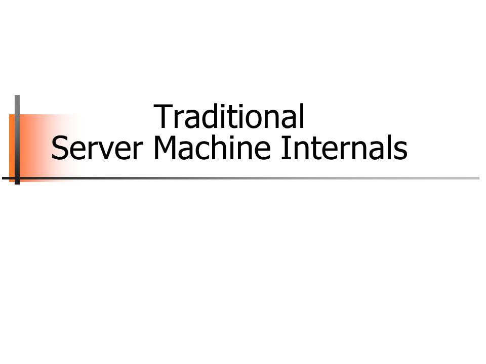 Traditional Server Machine Internals