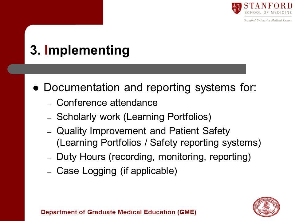 Department of Graduate Medical Education (GME) 3.