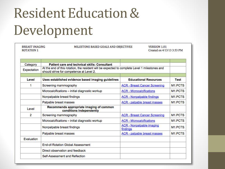 Resident Education & Development