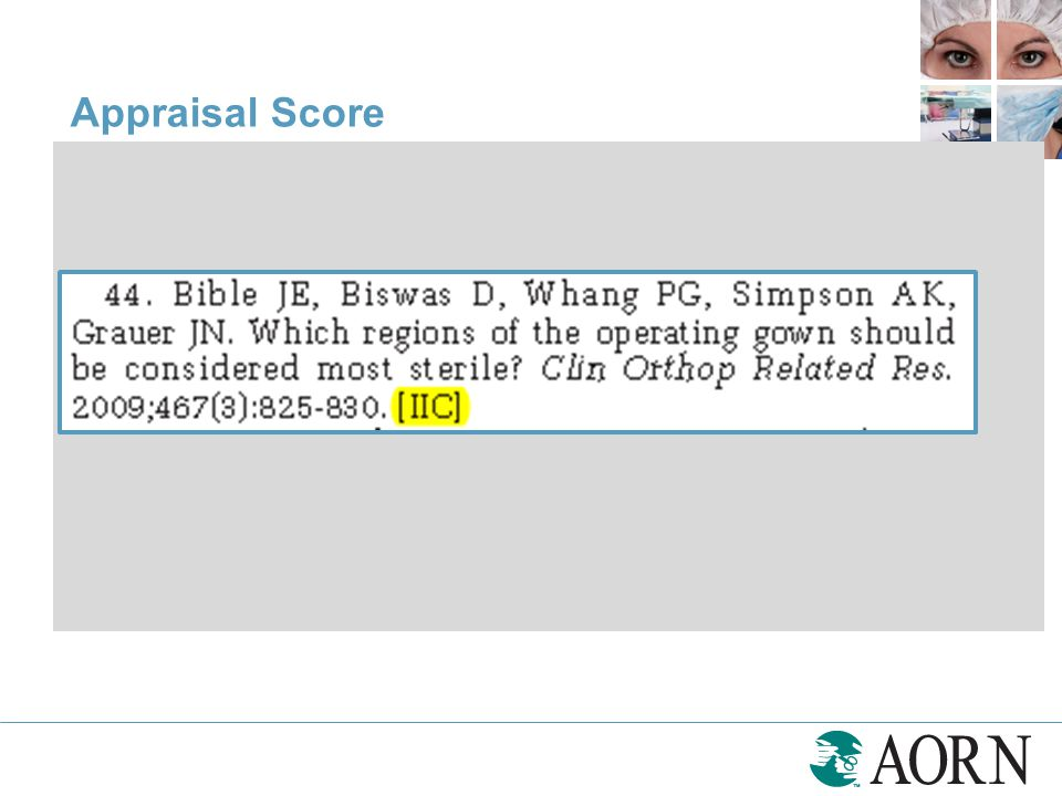 Appraisal Score