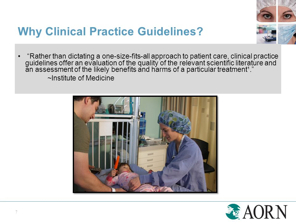 """""""Rather than dictating a one-size-fits-all approach to patient care, clinical practice guidelines offer an evaluation of the quality of the relevant s"""