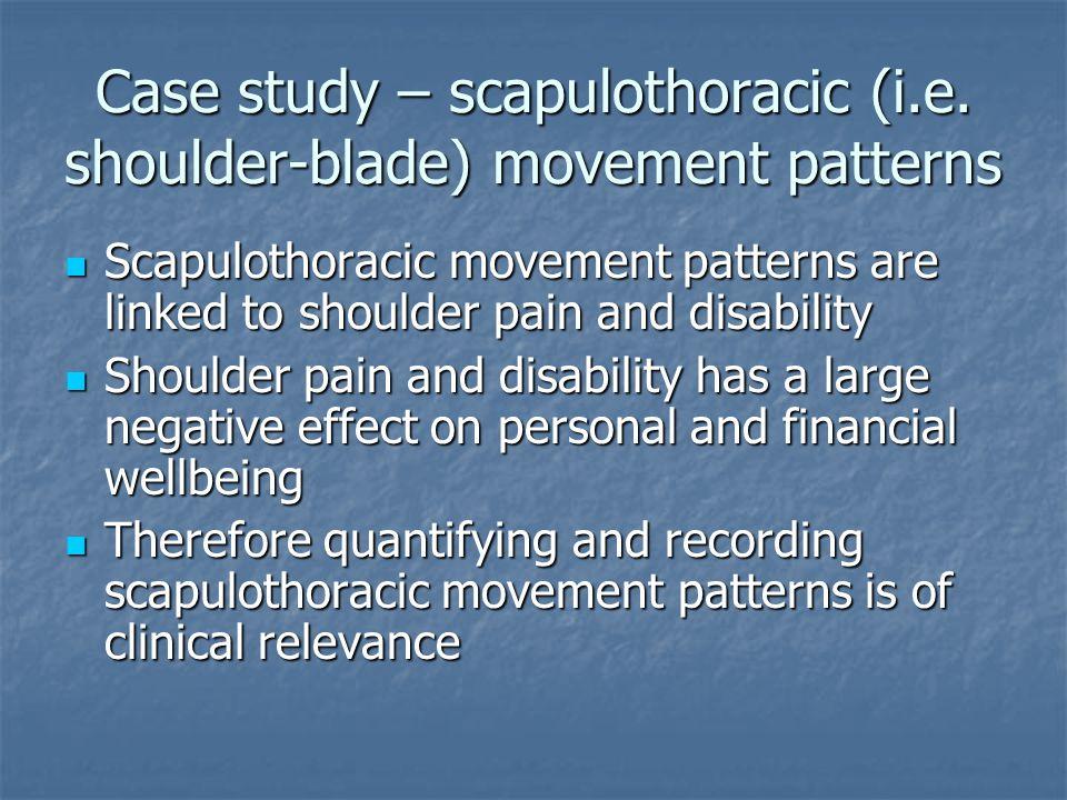 Case study – scapulothoracic (i.e.