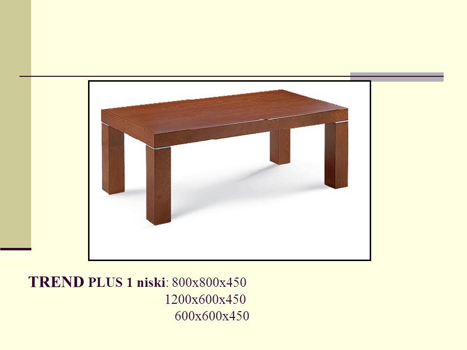 TREND PLUS 1 niski: 800x800x450 1200x600x450 600x600x450