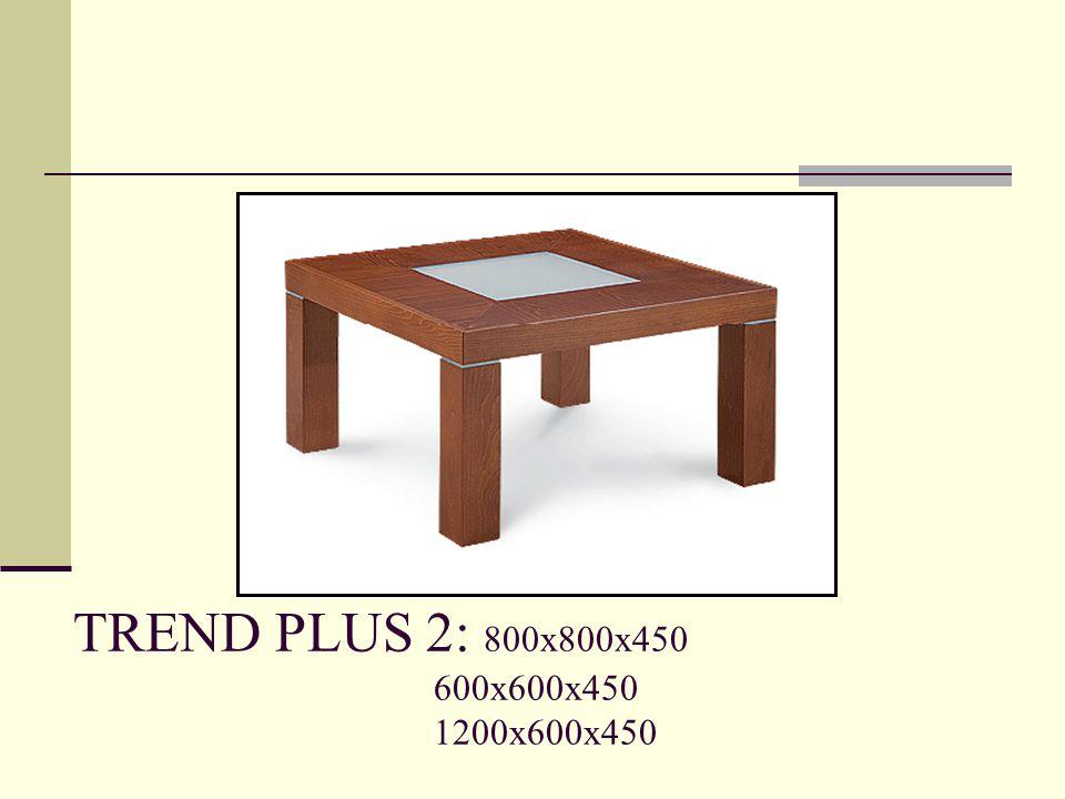 TREND PLUS 2: 800x800x450 600x600x450 1200x600x450