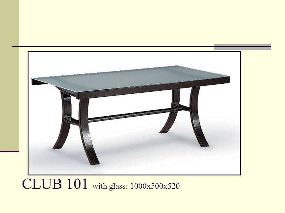 CLUB 101 with glass: 1000x500x520