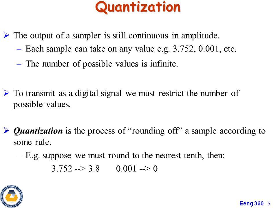 Eeng 360 6 Illustration of the Quantization Error
