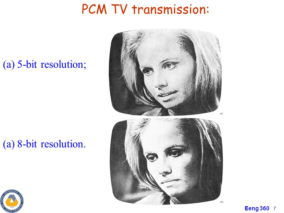 Eeng 360 7 PCM TV transmission: (a)5-bit resolution; (a)8-bit resolution.