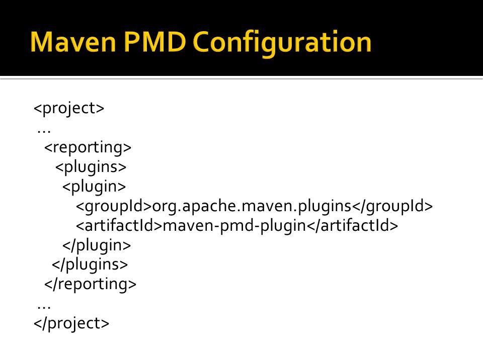 ... org.apache.maven.plugins maven-pmd-plugin...