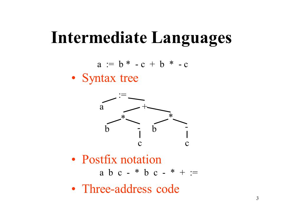 34 Type Conversion E  E 1 + E 2 {E.place := newtemp; if E 1.type = integer and E 2.type = integer then begin emit(E.place ':=' E 1.place 'int+' E 2.place); E.type := integer end else if E 1.type = real and E 2.type = real then begin emit(E.place ':=' E 1.place 'real+' E 2.place); E.type := real end else if E 1.type = integer and E 2.type = real then begin u := newtemp; emit(u ':=' 'inttoreal' E 1.place); emit(E.place ':=' u 'real+' E 2.place); E.type := real end else if … }