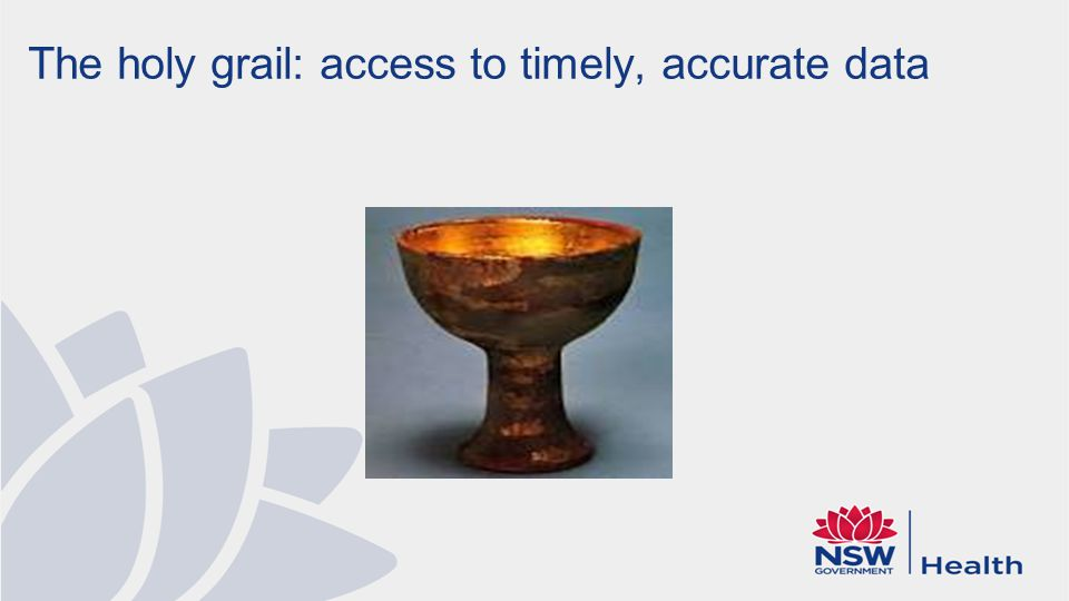 The holy grail: access to timely, accurate data