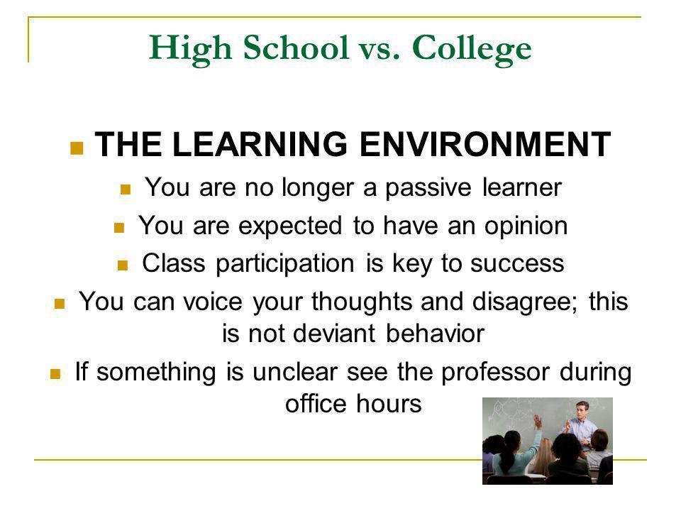 High School vs.