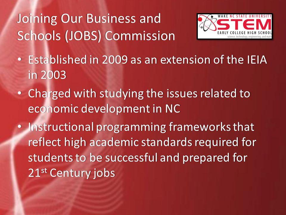 JOBS Commission and STEMJOBS Commission and STEM January, 2010.