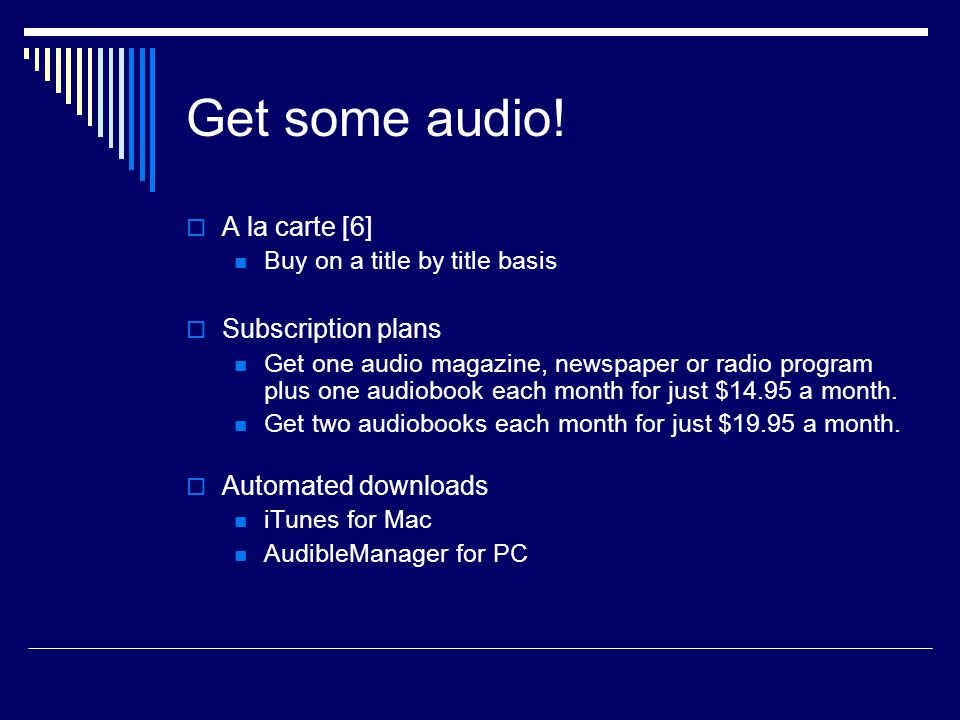 Get some audio.