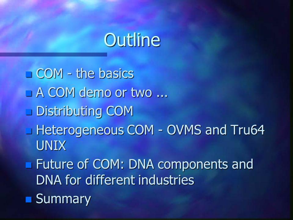 COM COM COM COM Warehouse Inventorycontroller Warehouse Warehouse Demo Architecture Client Inventorycontroller