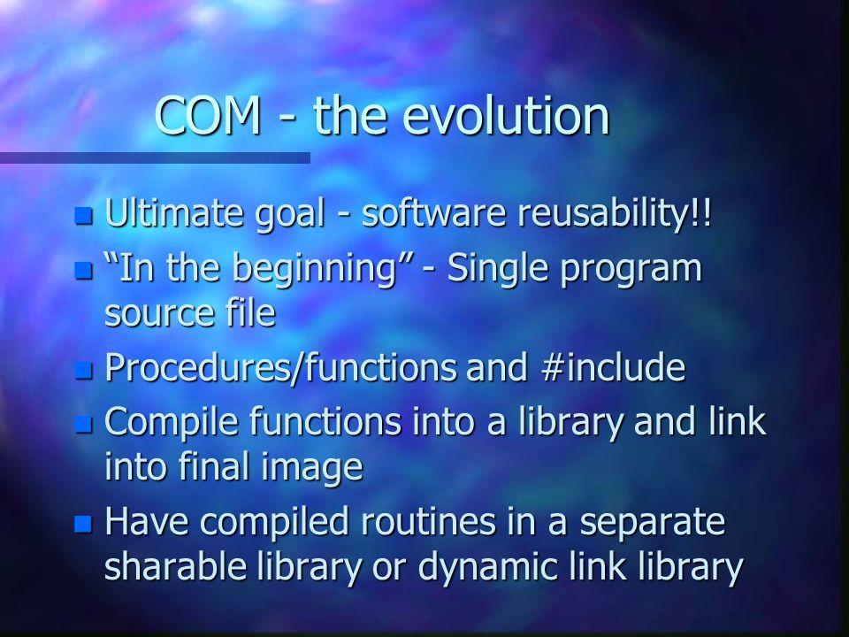 Non-intrusive Distribution Client Com Library SCM - Service Control Manager registry Server SCM - Service Control Manager registry Remote Server Information Node A Node B
