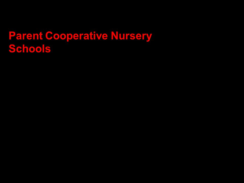 Parent Cooperative Nursery Schools