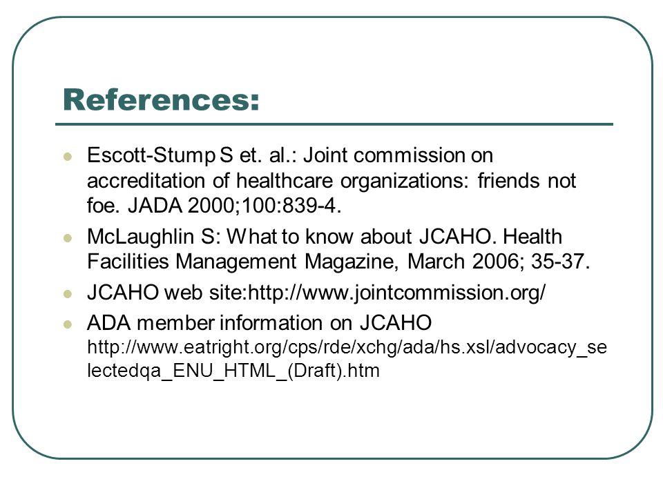 References: Escott-Stump S et.