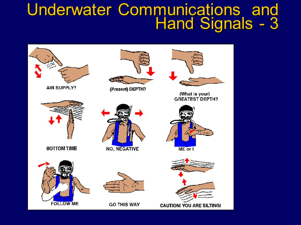 Underwater Communications and Hand Signals - 2