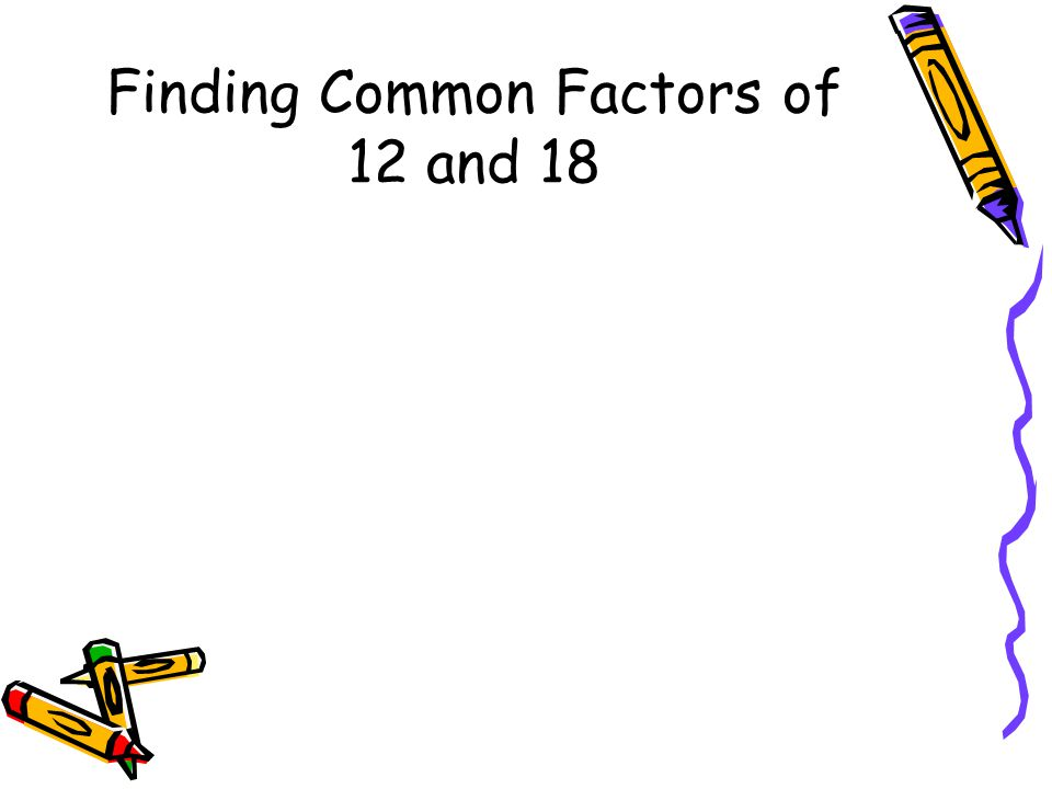 Finding Common Factors of 12 and 18