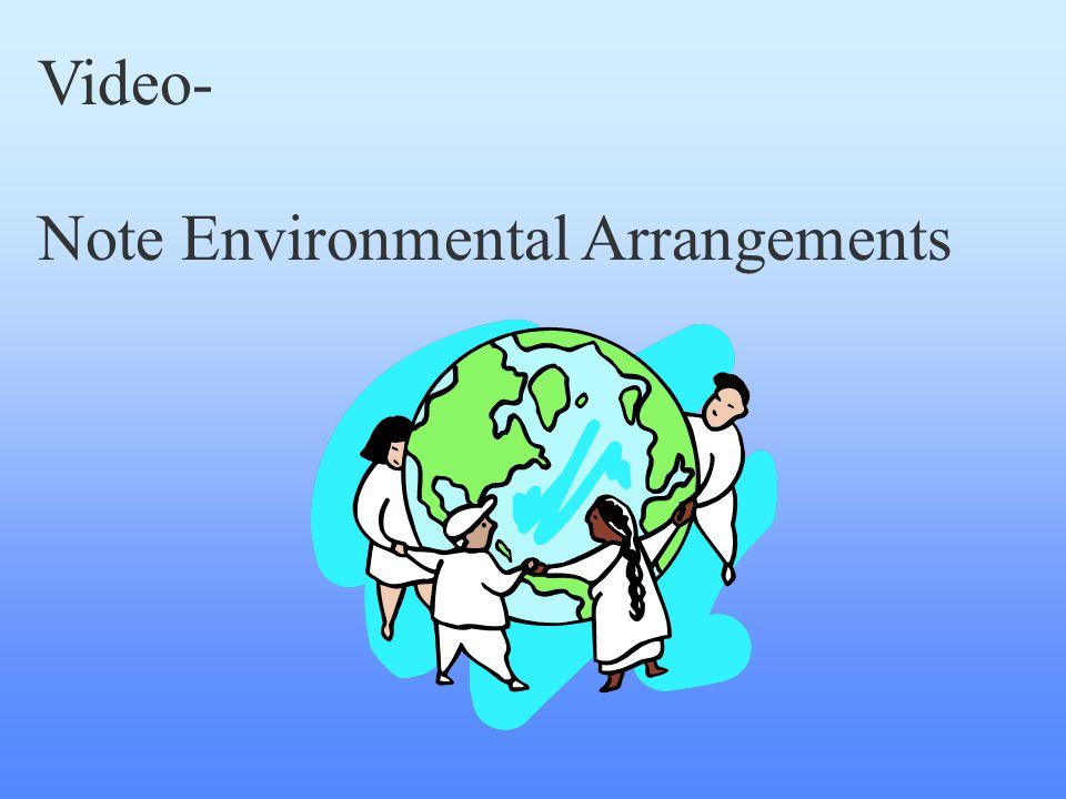 Video- Note Environmental Arrangements