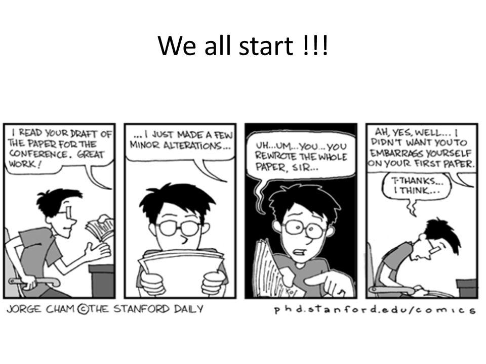 We all start !!!