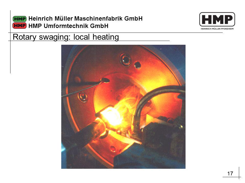 17 Heinrich Müller Maschinenfabrik GmbH HMP Umformtechnik GmbH Rotary swaging: local heating