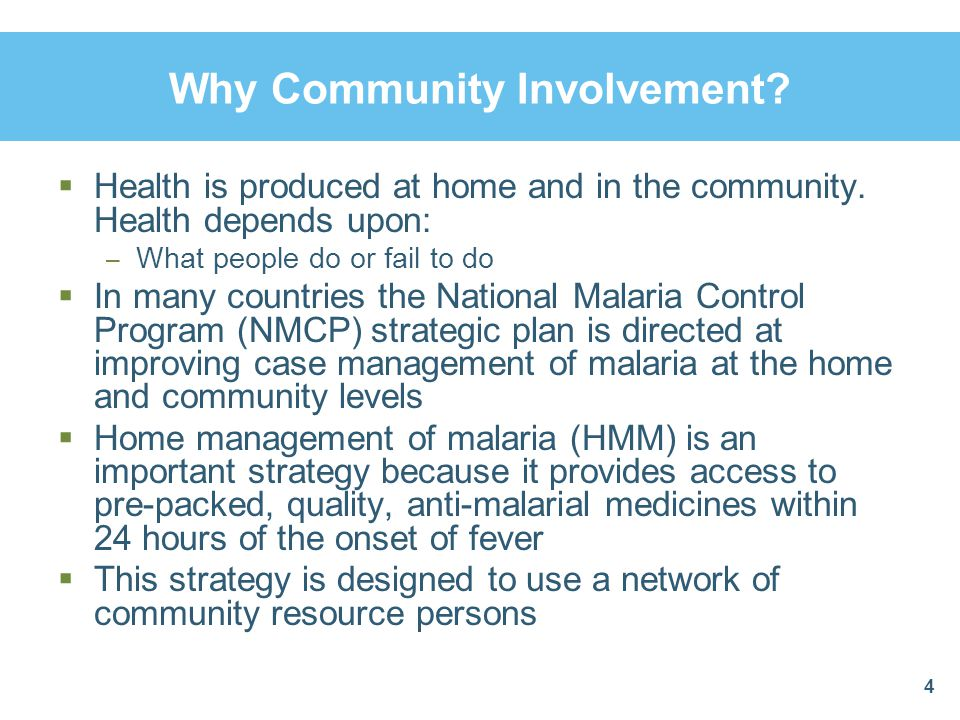 Factors That Affect Malaria Treatment  Non-affordability of anti-malaria drugs  Inappropriate health-seeking behavior  Inadequate health care infrastructures  Unapproved malaria drugs found in clinics and shops  Non-compliance with drug regimens  Poor communication between clients and providers Trained community agents can address these factors 25