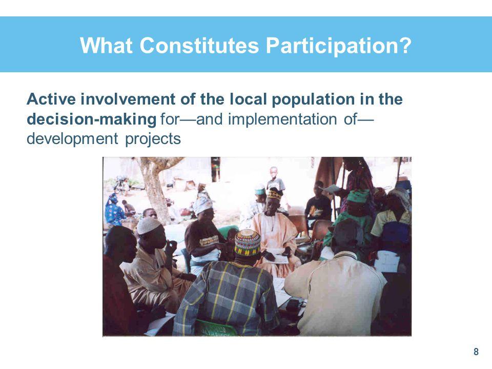 What Constitutes Participation.