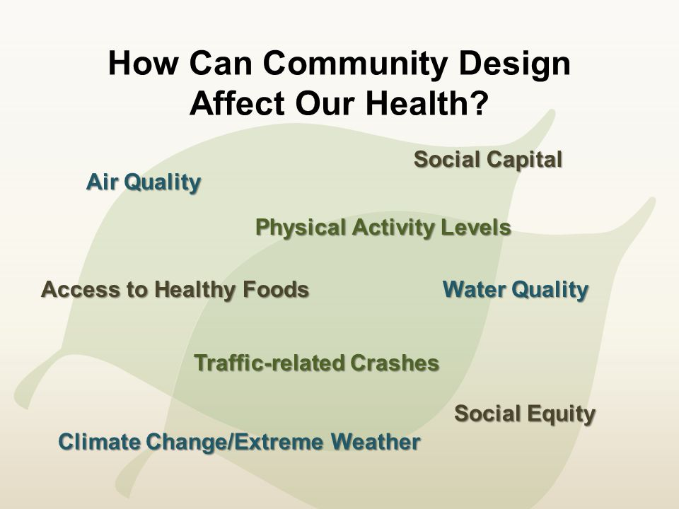 How Can Community Design Affect Our Health.