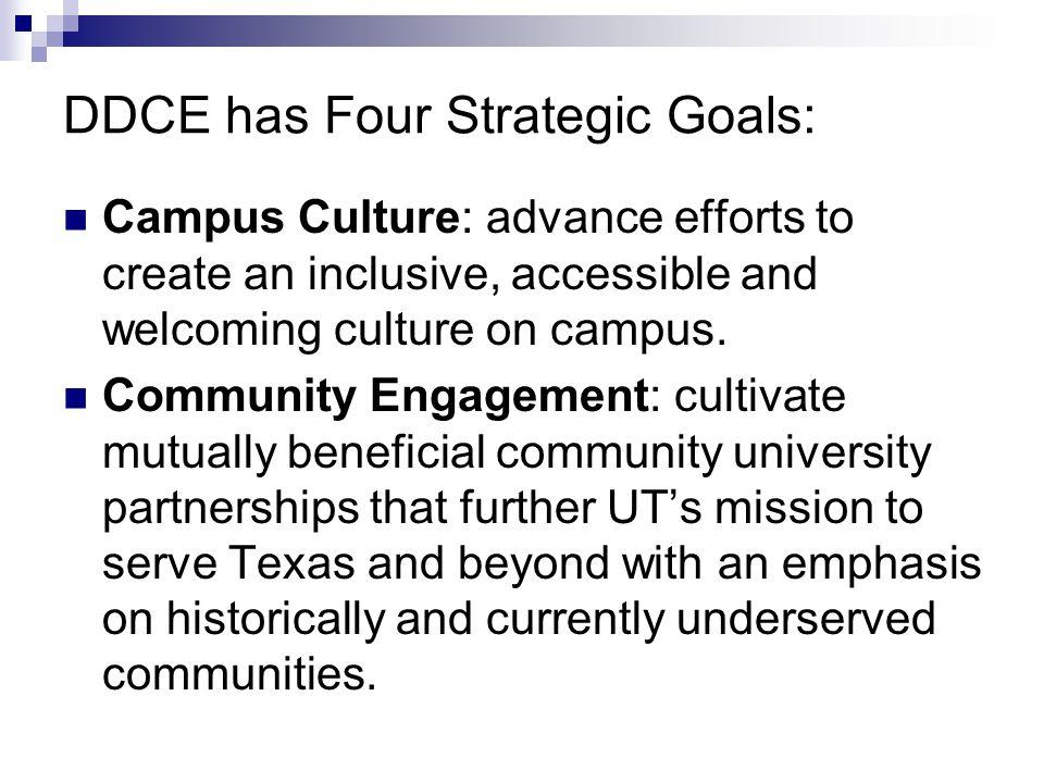 DDCE Strategic Goals cont.