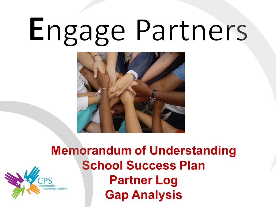 Memorandum of Understanding School Success Plan Partner Log Gap Analysis