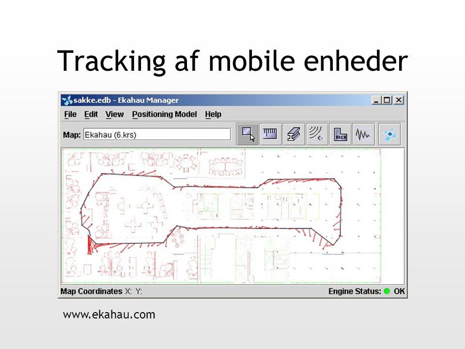 Tracking af mobile enheder www.ekahau.com