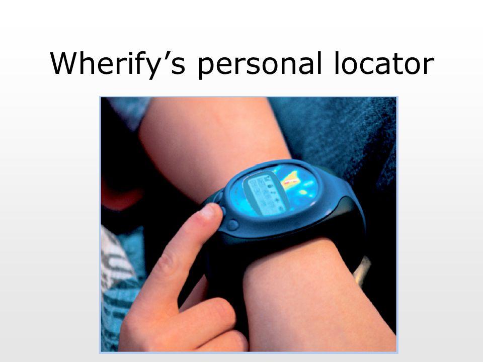 Wherify's personal locator
