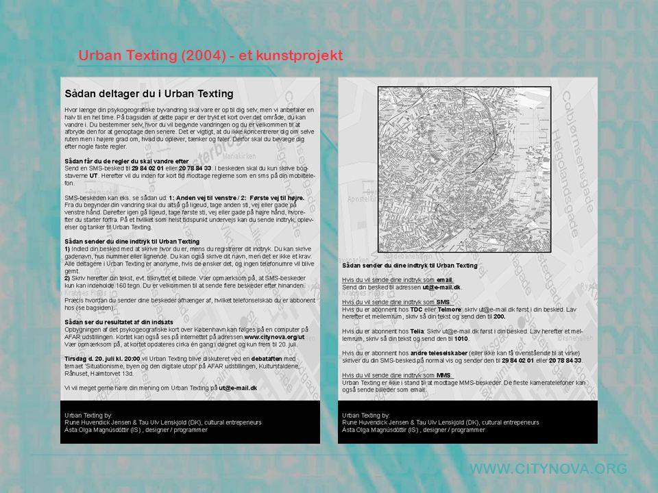 WWW.CITYNOVA.ORG Urban Texting (2004) - et kunstprojekt