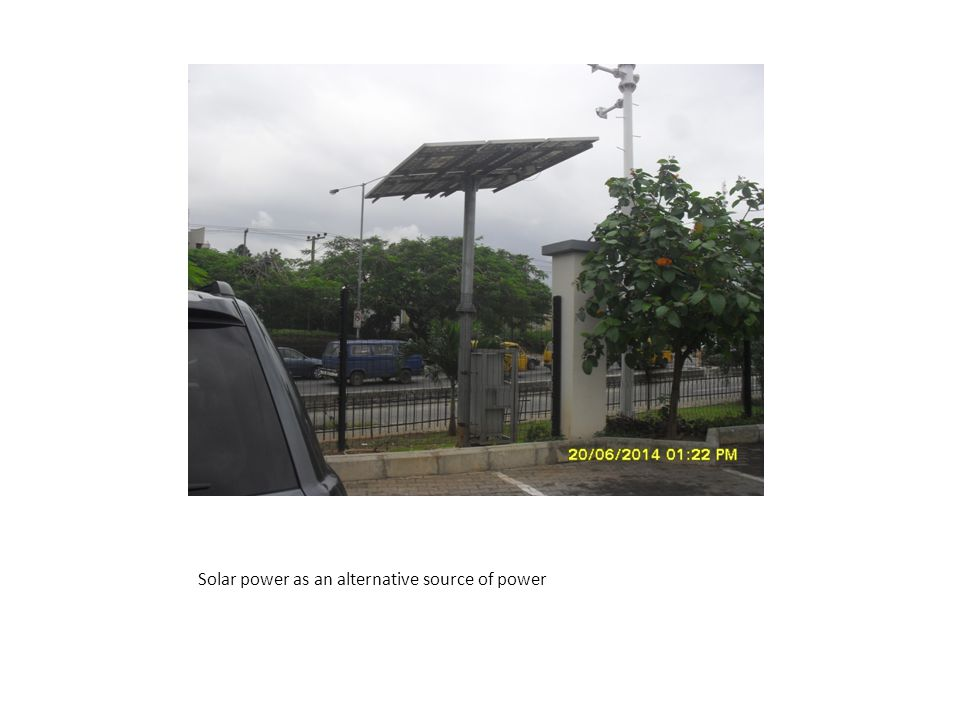 Solar power as an alternative source of power