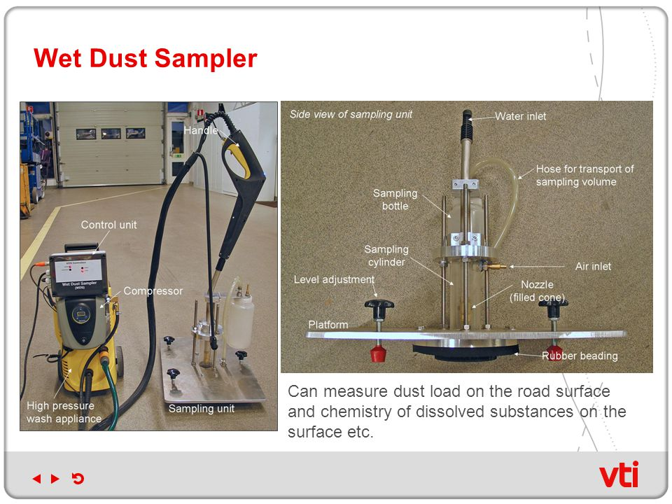 Wet Dust Sampler Can measure dust load on the road surface and chemistry of dissolved substances on the surface etc.