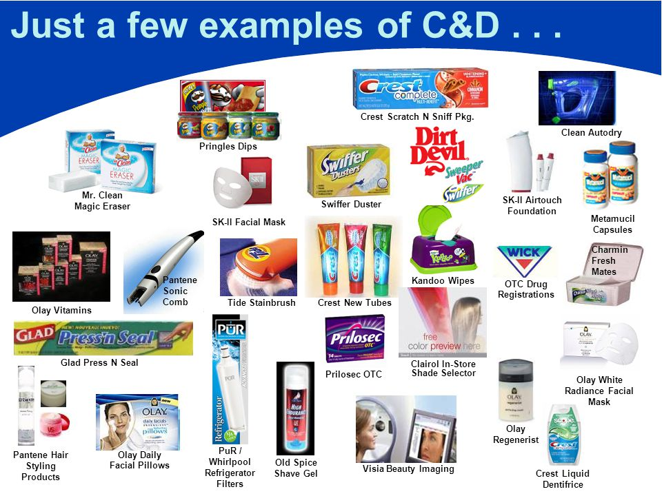 Just a few examples of C&D...