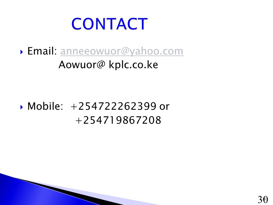 30     kplc.co.ke  Mobile: or