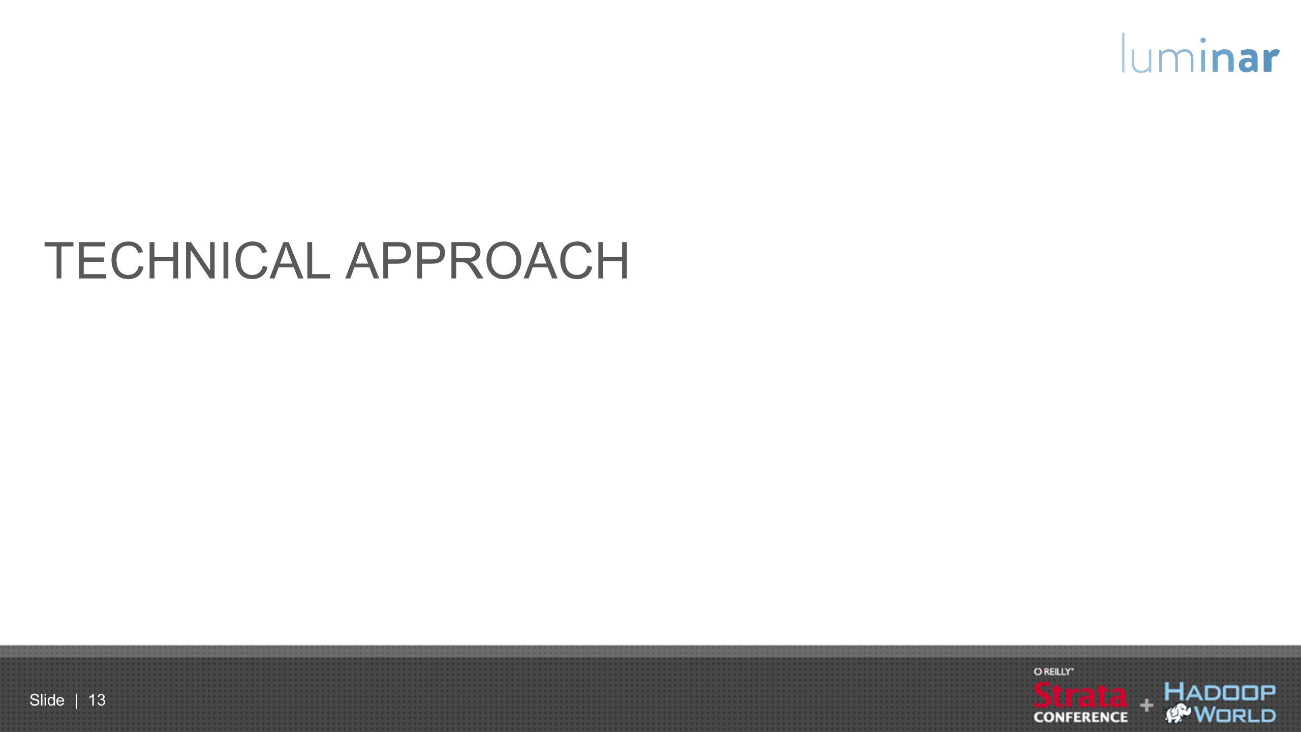 Slide | 13 TECHNICAL APPROACH